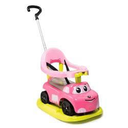 Smoby Auto Rocking Ride-On Περπατούρα Αυτοκινητάκι 4 Χρήσεων - Ροζ 720614 3032167206145