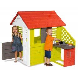 Smoby Maison Nature Παιδικό Σπιτάκι Κήπου Με Κουζίνα 810702 3032168107021