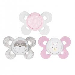Chicco Soother Physio Comfort Silicone, 0-6M, Pink - 2Pc - 3 Designs 74931-11 8058664082490