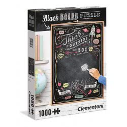 Clementoni Puzzle 1000pc Black Board Think Outside the Box Writable 39468 8005125394685