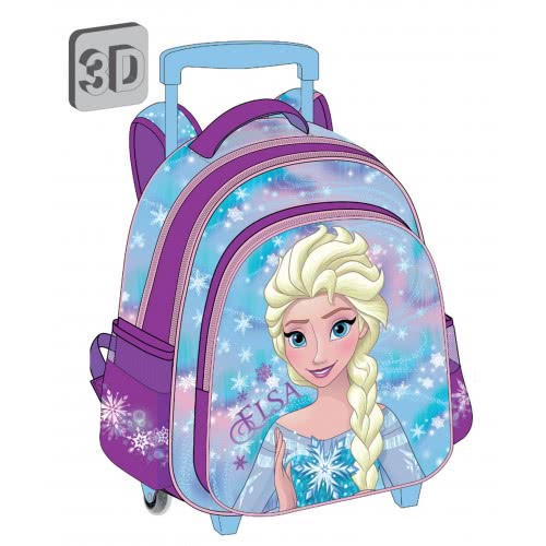 Diakakis imports Τσάντα Τρόλλεϋ 3D Frozen Έλσα - 3 Θήκες 561964 5205698243981