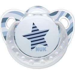 NUK Πιπίλα Σιλικόνης Trendline Adore 0-6μηνών Μ1 1τεμ 10729195 4008600252733
