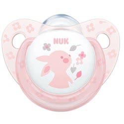 NUK Trendline Baby Rose and Blue Ορθοδοντική Πιπίλα Σιλικόνης Ροζ, 6-18 Μηνών - 2 Σχέδια 10736156 4008600282129