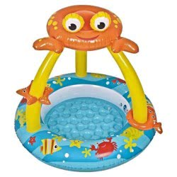 Jilong Inflatable Crab Baby Paddling Pool With Canopy Inft. Bottom 17392 6920388616102