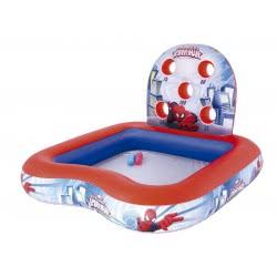 Bestway Πισίνα-Διαδραστικό Κέντρο Παιχνιδιού Spiderman Με Μπάλες 155X155x99εκ. 98016 6942138909999
