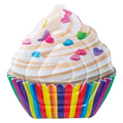 INTEX Inflatable Cup Cake Pool Mat Float Swimming Ring Beach Fun Toy Cupcake Lounger 58770 6941057407838
