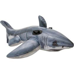 INTEX Inflatable Great White Shark Ride-On 173x107cm 57525 078257575251