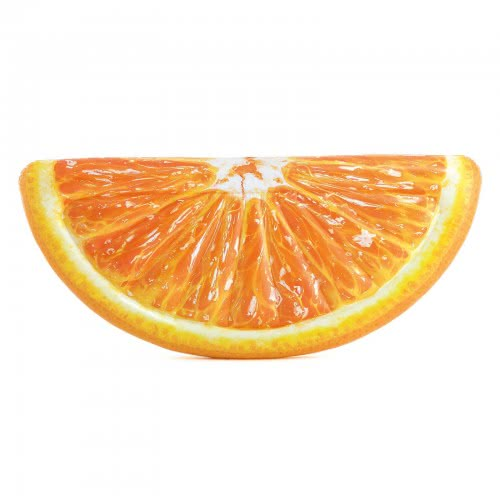 INTEX Φουσκωτό Στρώμα Θαλάσσης Σε Σχήμα Φέτα Πορτοκαλιού 178X85εκ 58763 6941057407586