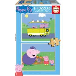 EDUCA Wooden Puzzle 2x9 Peppa Pig 17156 8412668171565