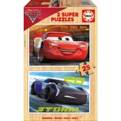EDUCA Wooden Puzzle 2x25 Cars 3 17173 8412668171732