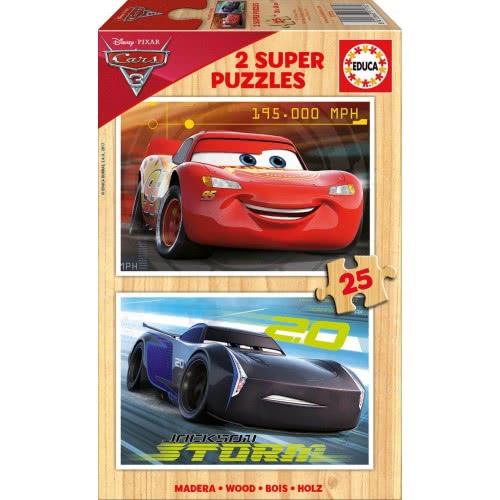 EDUCA Ξύλινο Παζλ 2x25 Cars 3 - Αυτοκίνητα 17173 8412668171732