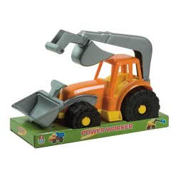 ANDRONI Giocattoli Power Worker Bulldozer 28Cm With Loader And Digger 6236-0000 8000796062369