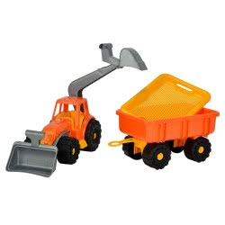 ANDRONI Giocattoli Power Worker Traktor With Loader, Digger And Trailer - 2 Colours 6983-0000 8000796069832
