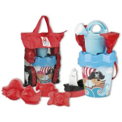 ANDRONI Giocattoli Pirate Adventures Beach Bag With Bucket And Accessories 7204-00PI 8000796672049