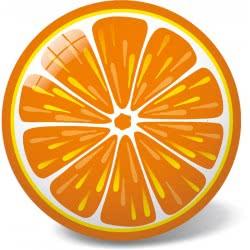 star Plastic Ball Orange, 23Cm 11/2944 5202522129442