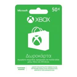Microsoft Xbox 50 Euro Prepaid Card Προπληρωμένη Κάρτα  4250797688608