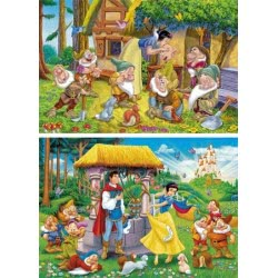 Clementoni ΠΑΖΛ 2Χ20 S.C.Disney-H Χιονάτη και οι εφτά νάνοι 1200-24501 8005125245017
