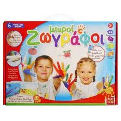 Real Fun Toys Real Fun Σετ ζωγραφικής Μικροί ζωγράφοι 6 χρώματα 7051 5200392370513