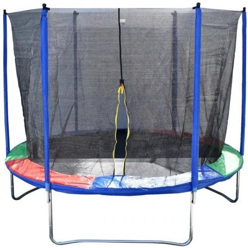 MG TOYS Τραμπολίνο πολύχρωμο με δίχτυ 305x253 εκ. 668905 5204275509861
