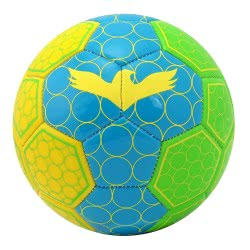 As company Μπάλα Ποδοσφαίρου Δερμάτινη, Μικρή, Πολύχρωμη Nano Fluo Spots 51021 5203068510213