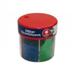 LUNA OFFICE LUNA The Littlies Glitter Σκόνη 6 Χρωμάτων, 50Γρ. 646025 5205698237386