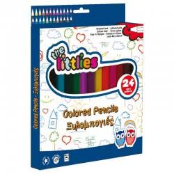 LUNA OFFICE LUNA The Littlies Wooden Colored Pencils 24 Colors 646083 5205698245091
