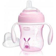 Chicco Transition Cup, Soft Silicone Glove, 4m+, 200ml Ροζ F04-06911-10 8058664081264