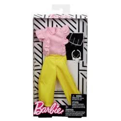 Mattel Barbie Fashion Βραδινά Σύνολα, Κίτρινο Παντελόνι και Ροζ Μπλούζα FND47 / FRY84 887961639032