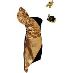 Mattel Barbie Fashion Βραδινά Σύνολα, Χρυσό Φόρεμα FND47 / FKT24 887961551280