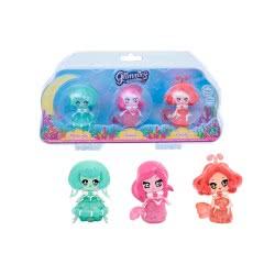GIOCHI PREZIOSI Glimmies Aquaria 3 Dolls Light Up In Water GLA02010 8056379047858