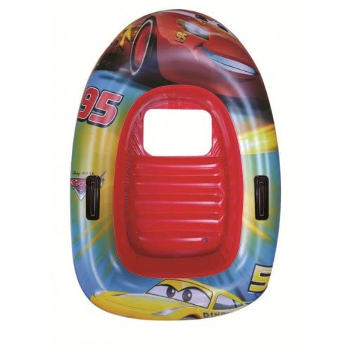 GIM Cars Race Inflatable Boat With Window And Handles, 102X69cm 871-94202 5204549108141