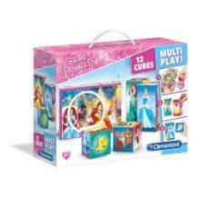 Clementoni Disney Πριγκίπισσες: Παζλ Κύβοι 12τμχ Multiplay 1100-41504 8005125415045