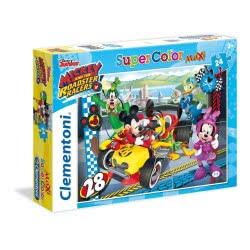 Clementoni Παζλ 24τεμ. Maxi Super Color Mickey and the Roadster Racers 24481 8005125244812