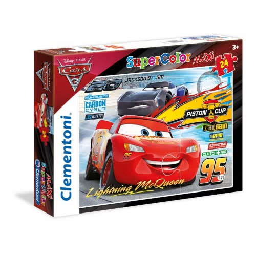 Clementoni Puzzle 24pc Maxi Super Color Cars: Friends for the Win 24489 8005125244898