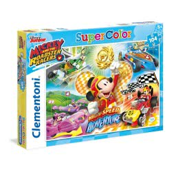 Clementoni Puzzle 104pc Super Color Mickey Roadster Racers - High Speed Adventure 27085 8005125270859