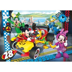 Clementoni Puzzle 104pc Super Color Mickey and the Roadster Racers 27984 8005125279845