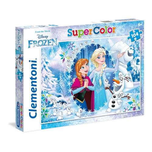 Clementoni Παζλ 104τμχ Super Color Disney Frozen Ψυχρά και Ανάποδα 27985 8005125279852