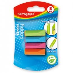 Keyroad Γόμα Cappy 4 χρωμάτων σε blister MAG-KR 970702 6939540533195