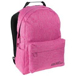 MUST School Bag Monochrome Jean Pink, 2 Compartments, 32x17x42cm 579403 5205698248443