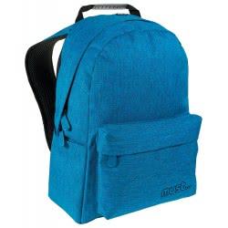 MUST Σχολική Τσάντα Πλάτης Monochrome Τζιν Μπλε Ανοιχτό, 2 Θήκες, 32x17x42εκ. 579405 5205698248481