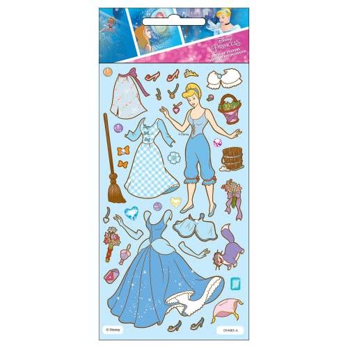 GIM Dress Up Αυτοκόλλητα Disney Princess Σταχτοπούτα 771-15436 5204549107199