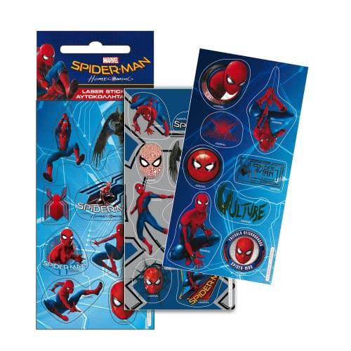 GIM Αυτοκόλλητα Laser Spiderman Homecoming 777-51310 5204549105898