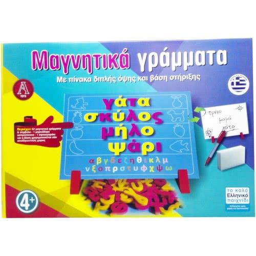 Argy Toys Μαγνητικά Γράμματα με Πίνακα Διπλής Όψης και Βάση Στήριξης 0600 5202105201749