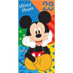 chanos Πετσέτα Θαλάσσης Mickey Mouse Nineteen 28 70x140εκ. 4904 5203199049040