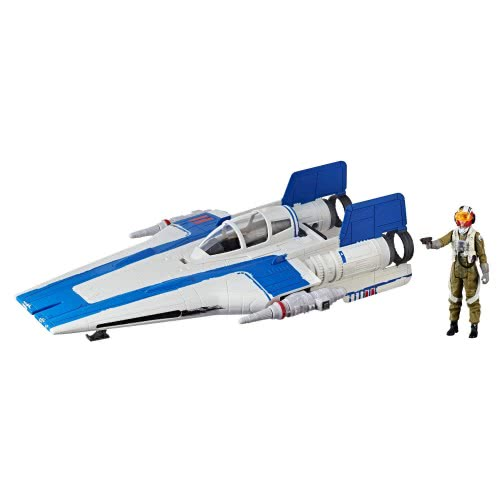 Hasbro Star Wars E8: Star Warsu Class B Resistance A-wing Fighter Όχημα και Φιγούρα Πιλότου E0326 / E1264 5010993452910
