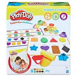 Hasbro Play-Doh Σχηματίζω και Μαθαίνω: Χρώματα και Σχήματα B3404 5010993535941