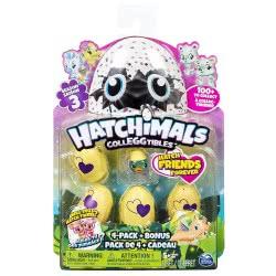 GIOCHI PREZIOSI Hatchimals Colleggtibles Season 3 - Συλλεκτικά 4 Αβγά Και 1 Μίνι Φιγούρα Bonus HAT05000 8056379060376