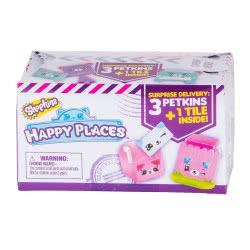 GIOCHI PREZIOSI Shopkins Happy Places Κουτάκι Έκπληξη με 3 Ζωοφατσάκια HAP02011 8056379026051