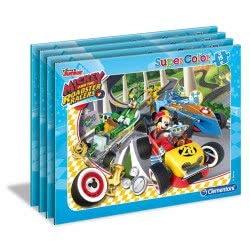 Clementoni Puzzle Frame 15pc Super Color Mickey Roadster Racers - 2 Designs 22229 8005125222292
