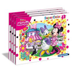 Clementoni Puzzle Frame 15pc Super Color Minnie Happy Helper - 4 Designs 22230 8005125222308